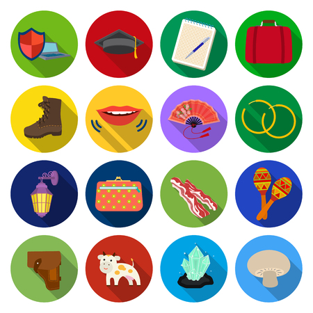 cow teeth: rest, tourism, business and other web icon in flat style. stone, champignon, mushroom icons in set collection.