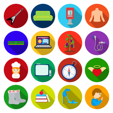 travel, trade, business and other web icon in flat style. music, medicine, hygiene,icons in set collection.
