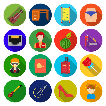 entertainment, tourism, businessand other web icon in flat style. leisure, medicine, music, icons in set collection.