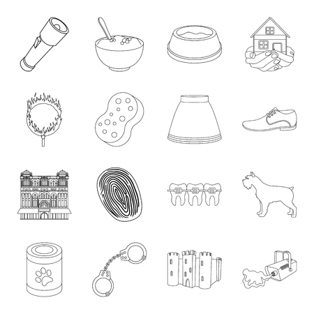 arrest: Dentistry, medicine, justice and other web icon in outline style.cleaning, travel, fashion icons in set collection.