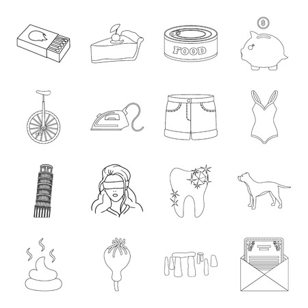 feces: History, travel, fashion and other web icon in outline style.finance, crime, drug icons in set collection. Illustration