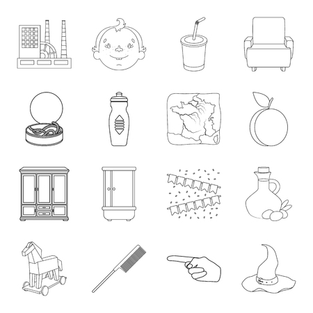 fitness, plumbing, history and other web icon in outline style.hairdresser, food, fishing icons in set collection.