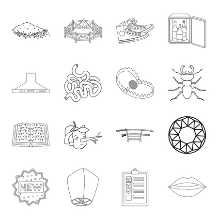 Weapons, hunting, insect and other web icon in outline style.sport, hotel, lighting icons in set collection.