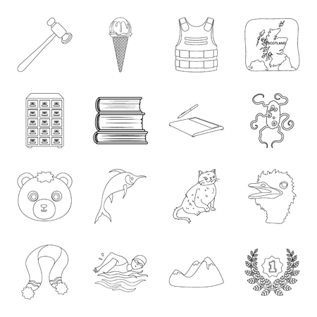 Animal, library, technology and other web icon in outline style. sport, medicine, army icons in set collection.