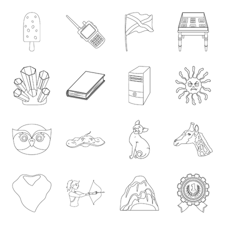 Sport, animals, education and other web icon in outline style. medicine, library, security icons in set collection. Illustration
