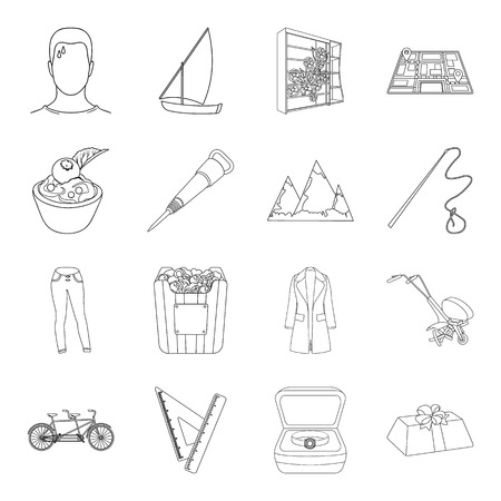 plow: Medicine, transportation, education and other web icon in outline style.sports, furniture, wedding icons in set collection.