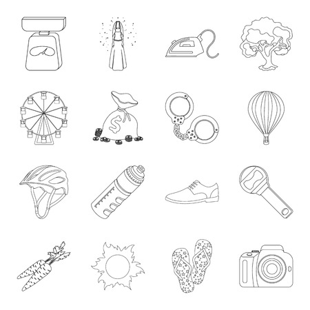 carotene: Finance, justice, wedding and other web icon in outline style.service, sports, fitness icons in set collection. Illustration