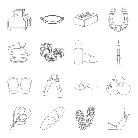 cleanliness: Cooking, sports, cleanliness and other web icon in outline style.game, beach, religion icons in set collection.