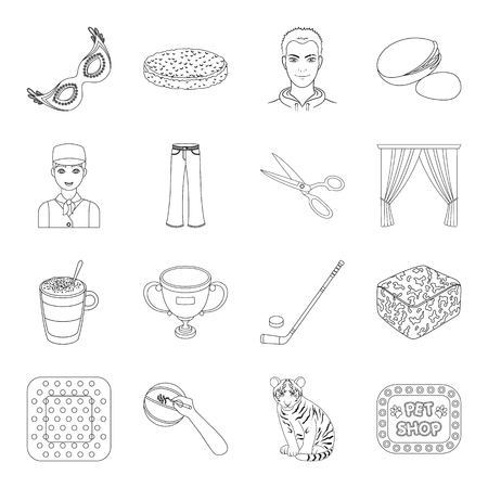 poet: Animal, sport, medicine and other web icon in outline style.food, Brazil, fan icons in set collection.