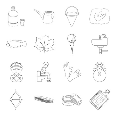 tumbler: alcohol, profession, medicine and other web icon in outline style.sport, hunting, cosmetics icons in set collection. Illustration