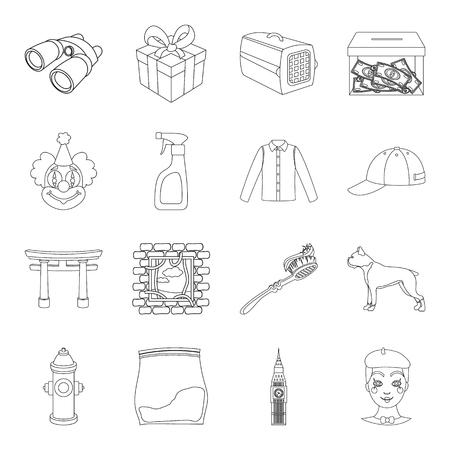 money packs: Makeup, finance, religion and other web icon in outline style.fashion, history, medicine icons in set collection.