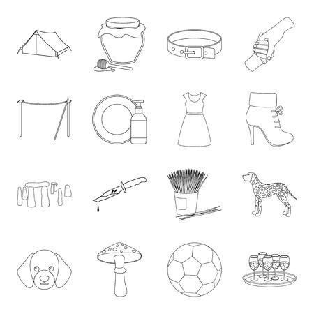 Inghilterra, sport, storia e altri icona web in outline style.dentistry, moda, medicina icone in insieme di raccolta.