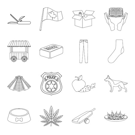 carotene: Food, history, travel and other web icon in outline style. drug, health, charity icons in set collection.