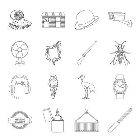 Manicure, cooking, medicine and other web icon in outline style.travel, insect, transportation icons in set collection.