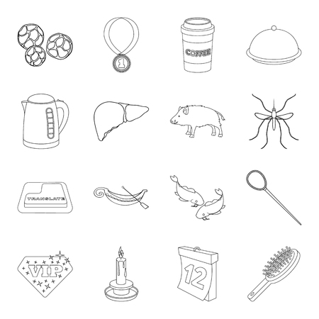 travel, cooking, hunting and other  icon in outline style.beauty, lighting, kitchen icons in set collection.