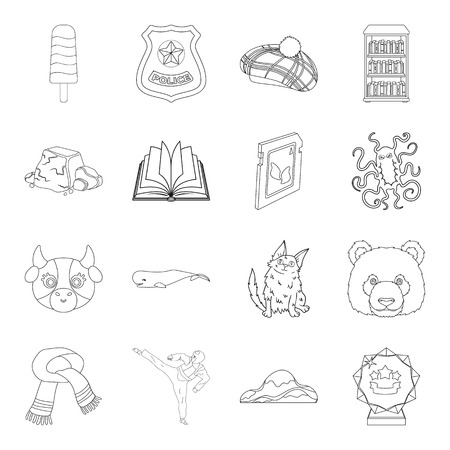 Sport, animal, medicine and other web icon in outline style.library, education, security icons in set collection.