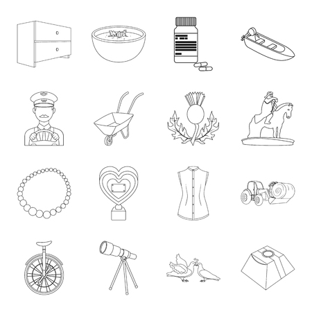 Onderwijs, geneeskunde, mode, geschiedenis, bruiloft, service iconen in verzameling.