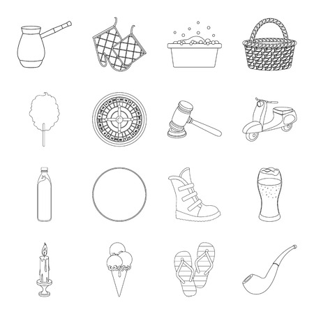 excitement, justice, transport and other web icon in outline style.fashion, cleaning, sport icons in set collection.