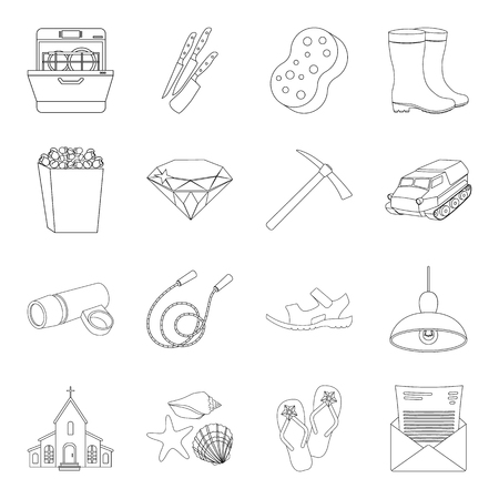 pick light: sports, fashion, transportation and other web icon in outline style.lighting, kitchen, celebration icons in set collection. Illustration