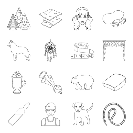 cowl: sport, medicine, animal and other web icon in outline style.atelier, food, cooking icons in set collection.