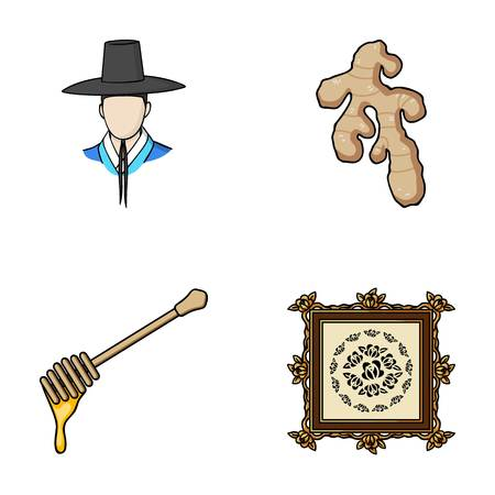 travel, art and other web icon in cartoon style.cooking, beekeeping icons in set collection. Illustration