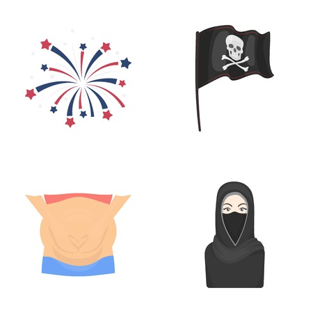 medicine, tourism, religion and other web icon in cartoon style.burqa, asian, entertainment icons in set collection.