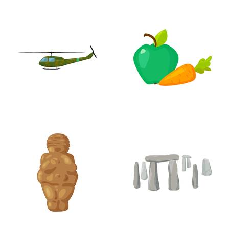 army, religion and other web icon in cartoon style.food, history icons in set collection.
