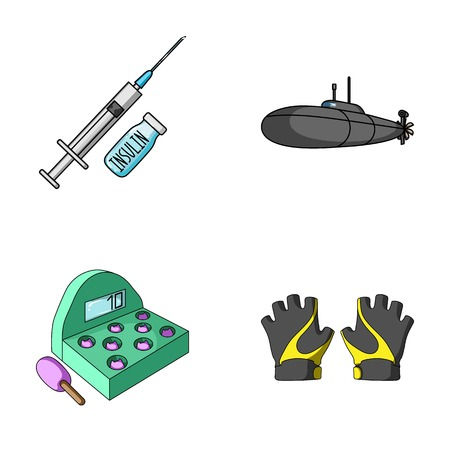 medicine, game and other web icon in cartoon style.army, sport icons in set collection. Illustration