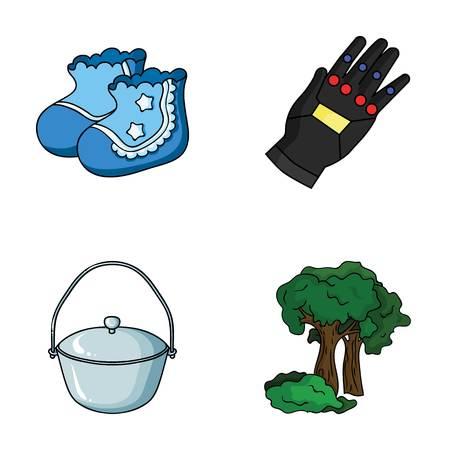 ropa, pesca y otro icono web en estilo de dibujos animados. Tecnología, iconos de silvicultura en la colección de conjunto.