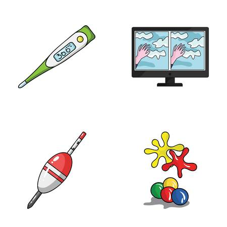 medicine, fishing and other web icon in cartoon style.technology, paintball icons in set collection.