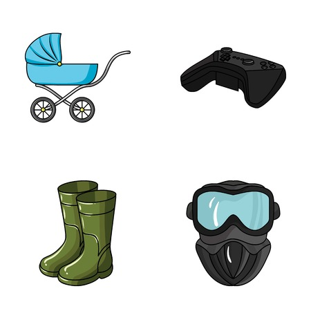 child, fishin, and other web icon in cartoon style.technology, paintball icons in set collection.