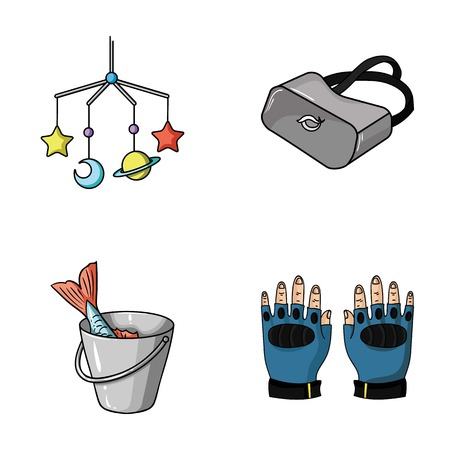finger fish: technology, fishing and other web icon in cartoon style.sport, child icons in set collection.