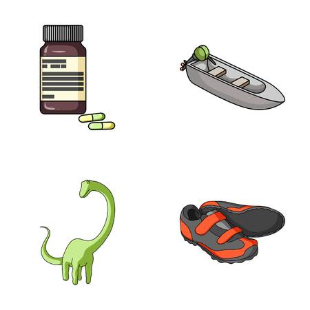 Medicine, toy and other web icon in cartoon style