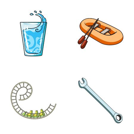 oars: Car mechanic, leisure, business and other web icon in cartoon style