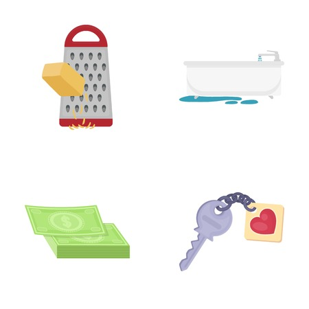 Access, hygiene, food and other  icon in cartoon style. key, key chain, security, icons in set collection. Illustration