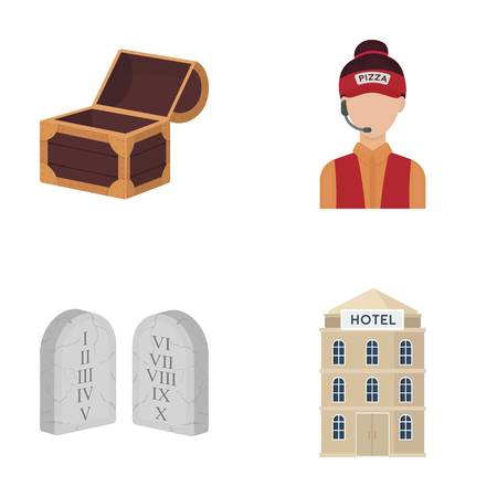 business, restaurant, travel and other  icon in cartoon style., building, hotels, architecture icons in set collection