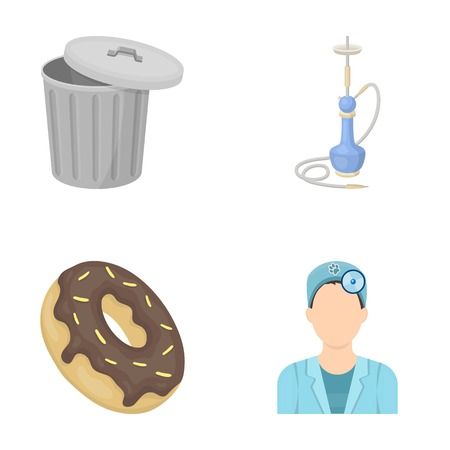 ecology, trade, business and other  icon in cartoon style.ophthalmologist, cap, medicine icons in set collection. Illustration