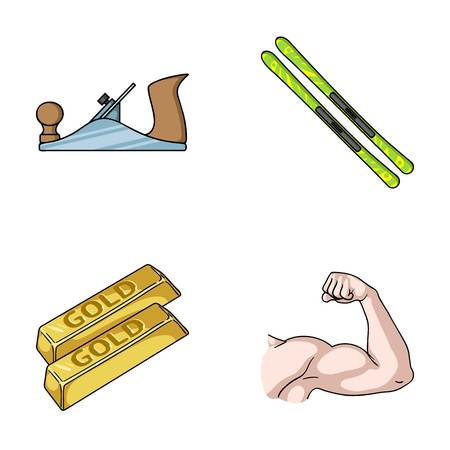 building, finance and other web icon in cartoon style. travel, fitness icons in set collection. Illustration