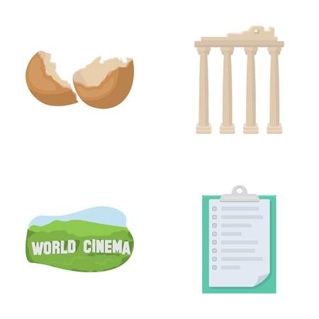 tourism, travel, ecology and other  icon in cartoon style.list, fastening, history icons in set collection.