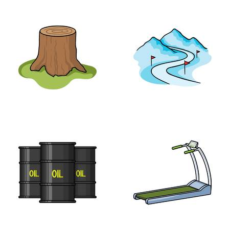 oil refining, sport and other web icon in cartoon style.fitness, Huntsman icons in set collection. Illustration