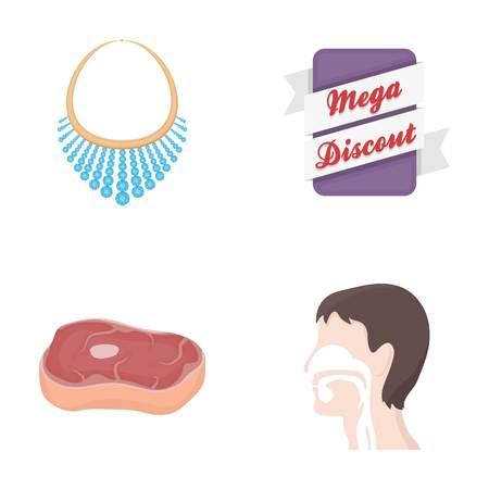bedrijf, producten, medicijnen en andere web-pictogram in cartoon style.ways, haar, lichaam, pictogrammen in set collectie.