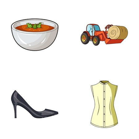 sewing, food and other web icon in cartoon style. shoes, fashion icons in set collection.