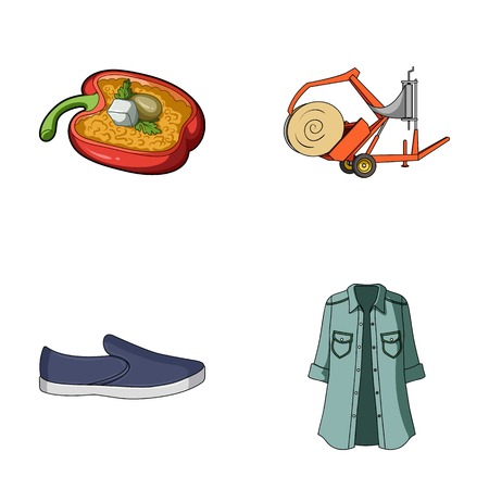 clothing, textiles, business and other web icon in cartoon style., jeans, model, fashion, icons in set collection. Illustration