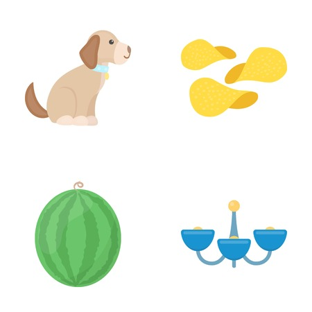 design, trade, business and other web icon in cartoon style.juicy, chandelier, lighting, icons in set collection. Illustration