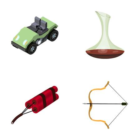 decanter: Transport, mine and other web icon in cartoon style. Alcohol, sport icons in set collection.