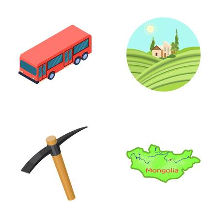 Transport, mine and other web icon in cartoon style. Nature, travel icons in set collection.