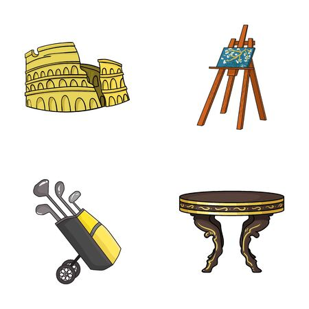 travel, sport and other web icon in cartoon style.art, furniture icons in set collection.
