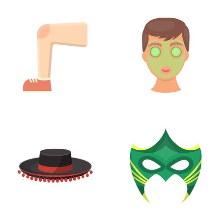 leisure, cosmetology, medicine and other web icon in cartoon style., cognito, carnival, business, icons in set collection. Çizim