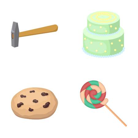 cooking, building, business and other web icon in cartoon style.wand, dessert, goodies, icons in set collection. Ilustração