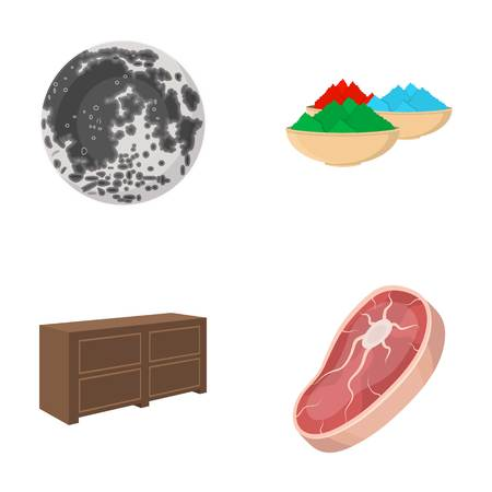 food, business, ecology and other web icon in cartoon style.piece, beef, pork icons in set collection.